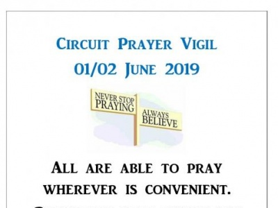 Circuit Prayer Vigil poster 2019