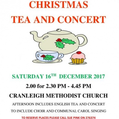 Cranleigh Christmas afternoon tea and concert 16-12-17