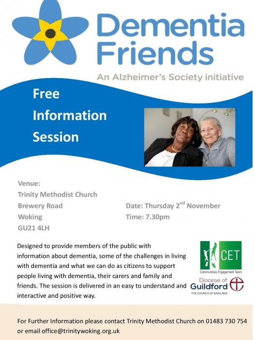 Dementia friends Trinity Methodist