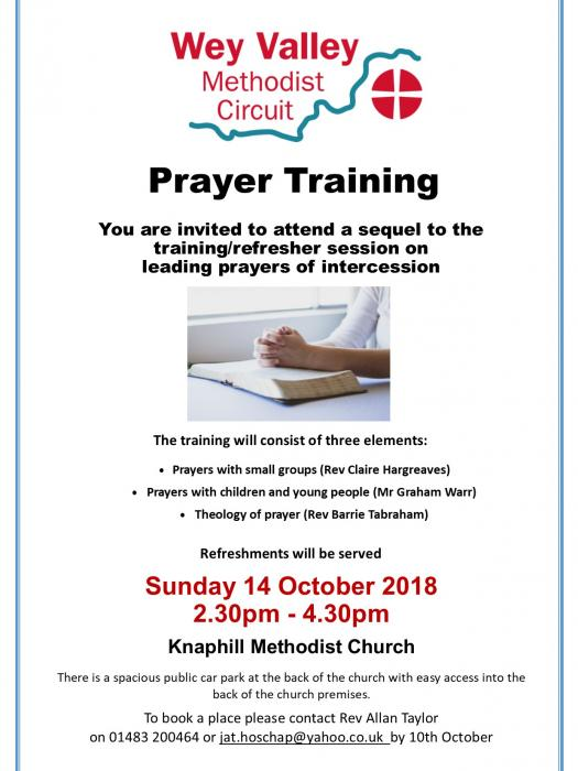 Prayer Training October 2018