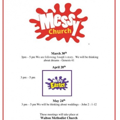 Walton Messy Church March - May 2019